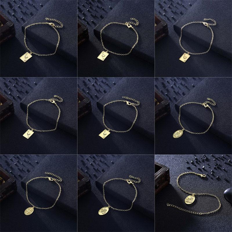 Nueva llegada 20 estilos Tendencia de moda versátil Imitación chapado en oro pulseras joyería fina para mujeres regalos envío gratis SKH001-024