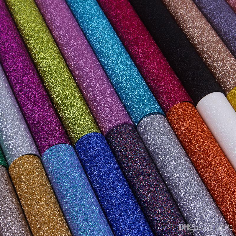 Sigara Dokuma Kumaş Duvar Kağıdı Ince Glitter Duvar Bez Baskı Serisi Parlak Tıknaz Nefis Duvar Kağıtları Düğün Parti Malzemeleri 12by KK