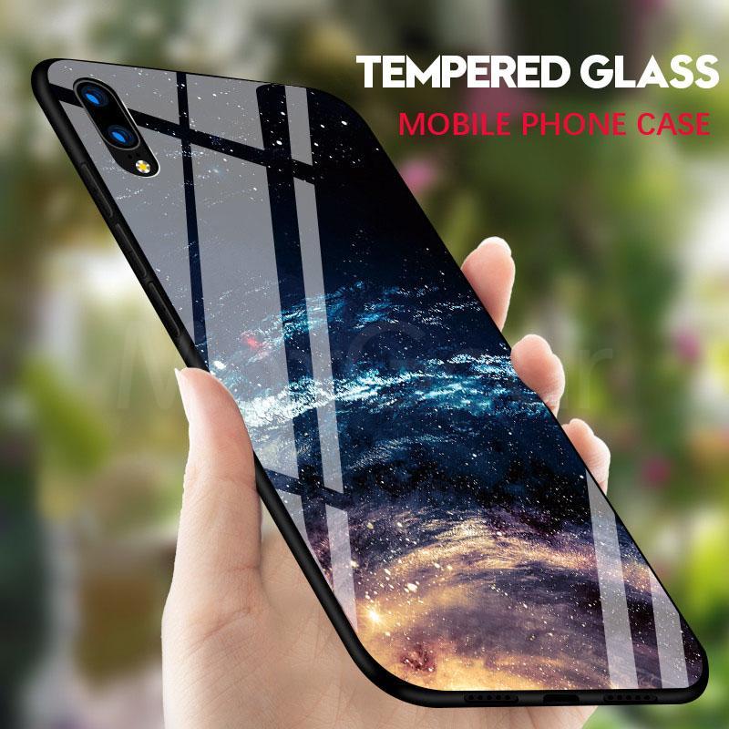 Hartglas-Rückseiten-Telefon-Kasten des ausgeglichenen Glases für iPhone X 6s plus volle stoßsichere Abdeckung für iPhone 8 Plus 8s 7 Silikon TPU weiche Rand-Fälle Shell