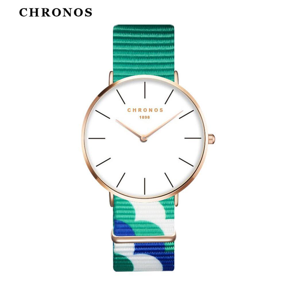 Paar Mode Nylon Armband Analog Quarz Runde Armbanduhren Marke Einfache Ultra Thin Women Casual Armbanduhr Uhr Würde