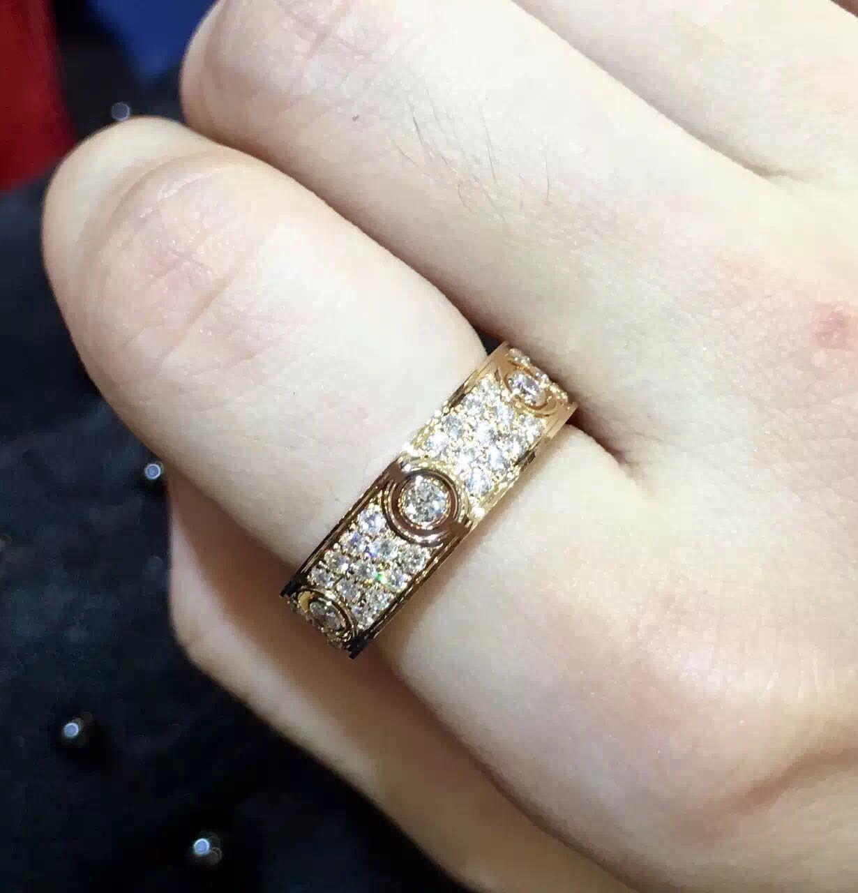 Moda marka gümüş Kadınlar erkekler yüzük için severler çift halka takı altın H aşk halka altın yüzük gül
