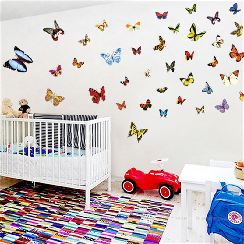 2016 new butterfly wall stickers window decals vinyl pvc kids rooms 2016 new 80pcs butterfly wall stickers window decals vinyl pvc kids rooms home decoration accessories diy wedding room decor junglespirit Image collections
