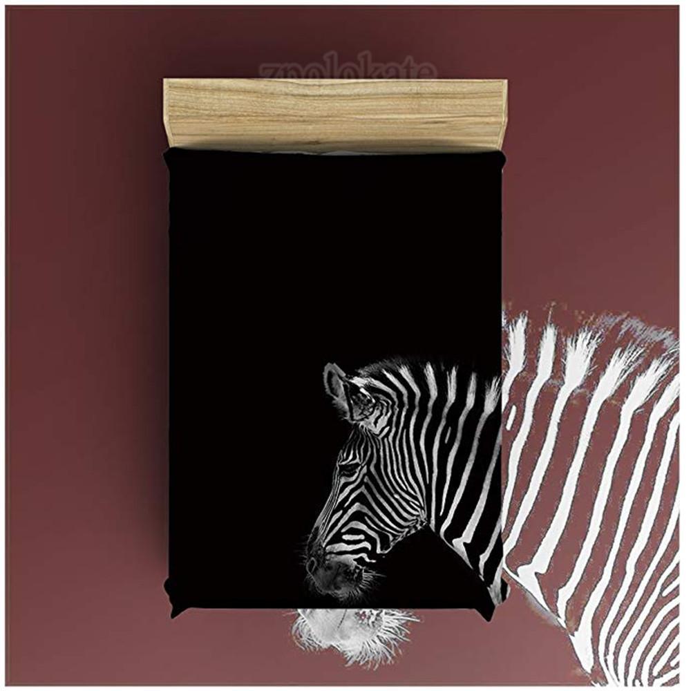 Flanela Cobertor de Lã Leve Cozy Bed Sofá Cobertores Super Macio Tecido Preto e Branco Zebra