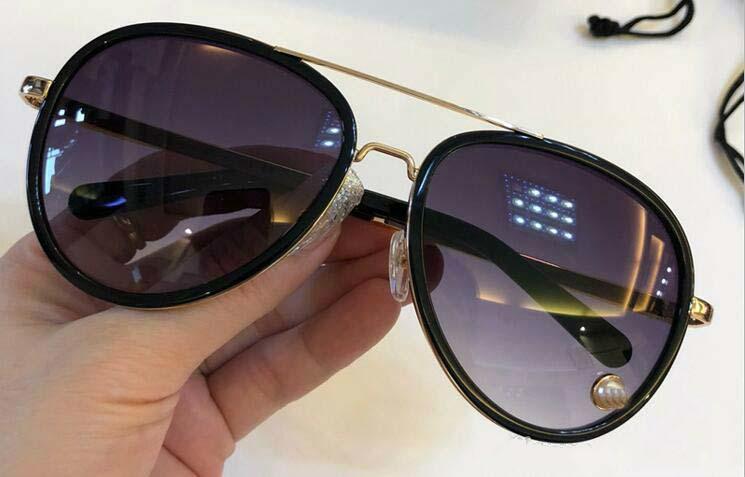 Nouveau créateur de mode femme 5006 lunettes de soleil montures en métal pilote avec perles de luxe avant-gardiste style populaire UV 400 lunettes de protection