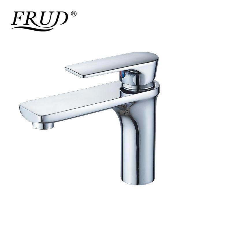 wholesale Bathroom Faucet Deck Mounted Basin Faucet Chrome Single Handle Kitchen Tap Hot & Cold Water Mixer Faucet Bathroom Y10112