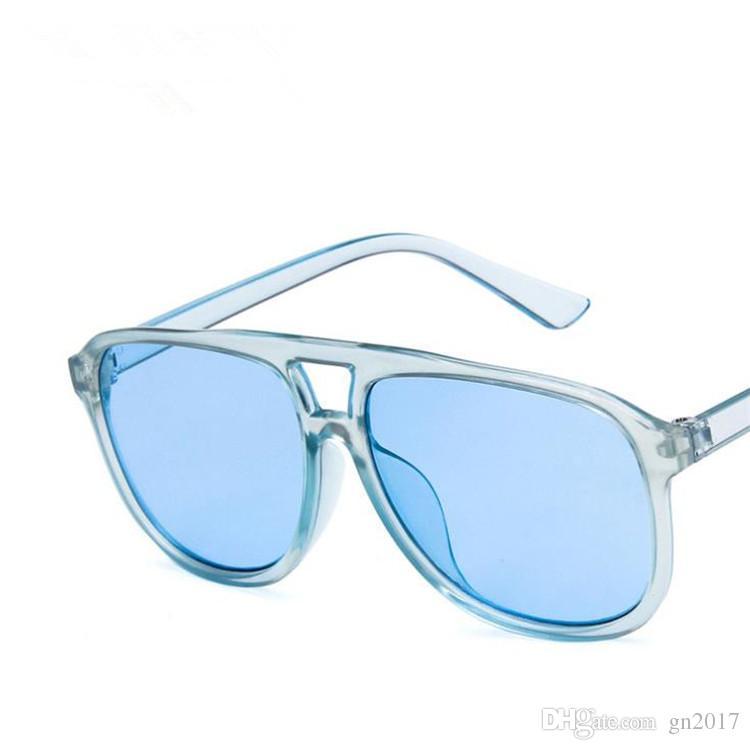 Occhiali da sole donna europea personalità caramelle di colore occhiali da sole retrò occhiali da vista anti-uv occhiali A ++ occhiali da sole