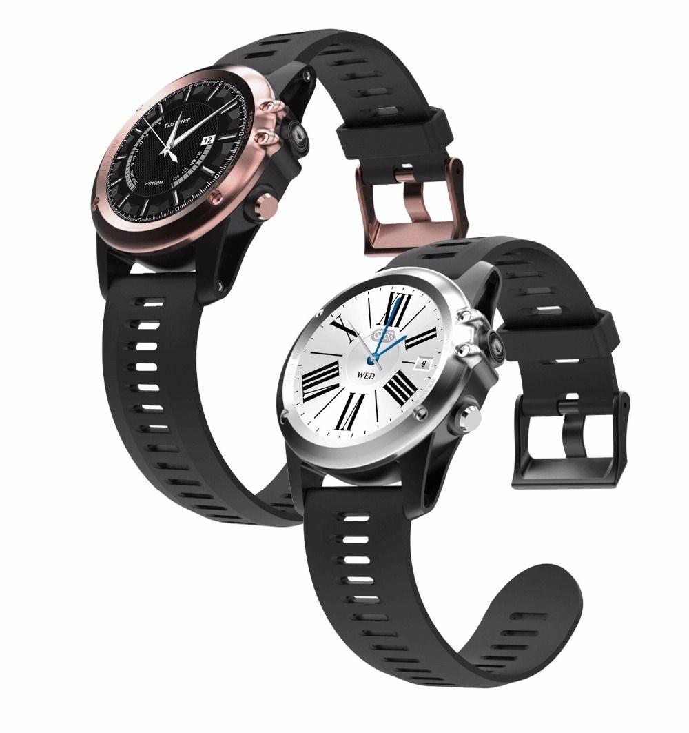 H1 relógio Inteligente Android MTK6572 512 MB 4 GB ROM GPS 3G 3G Altitude WIFI IP68 à prova d 'água Câmera de 5MP de Freqüência Cardíaca smartwatch