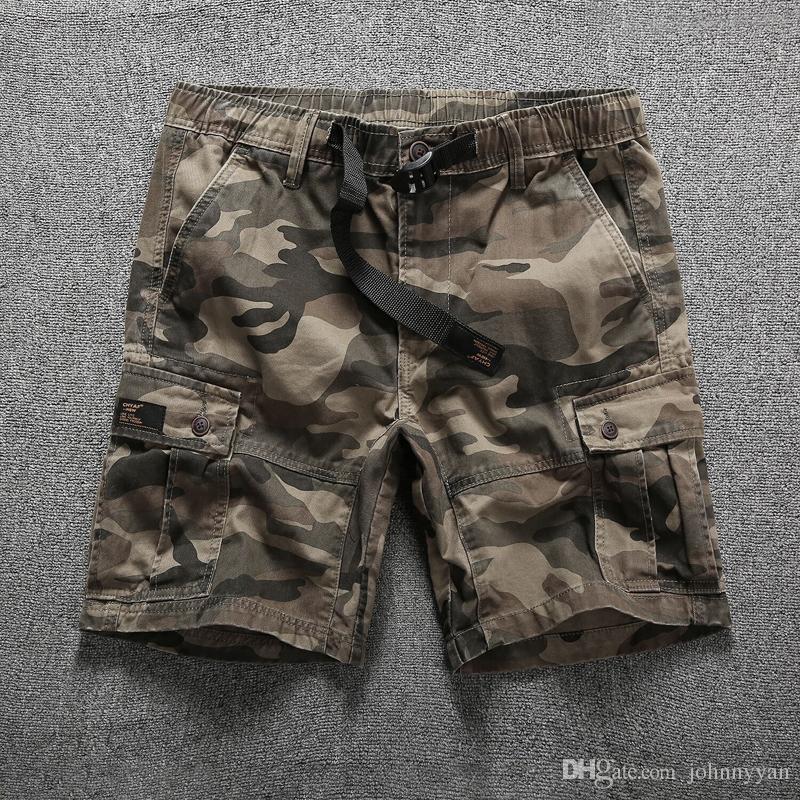 Shorts Men Cool Camouflage Summer Casual Men Short Pants Comfortable Camo Men Cargo Shorts