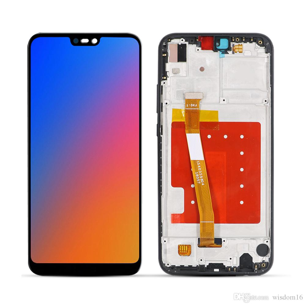 Color : Blue Black LCD Screen Mobile Phone and Digitizer Full Assembly with Frame for Huawei P20 Lite//Nova 3e