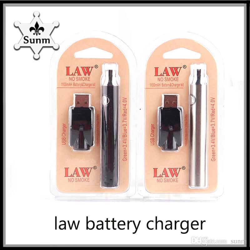 Gorąca sprzedaż Law Pre-Heat Battery Kit VV Pre-Ogrzewanie Zestaw startowy 1100mAh o Pen Bud Dotknij Funkcja zmienne z ładowarką USB