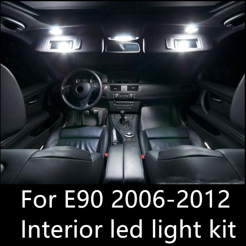 Shinman 14 adet Hata Ücretsiz LED İç Işık Kiti Paketi, BMW E90 aksesuarları 2006-2012