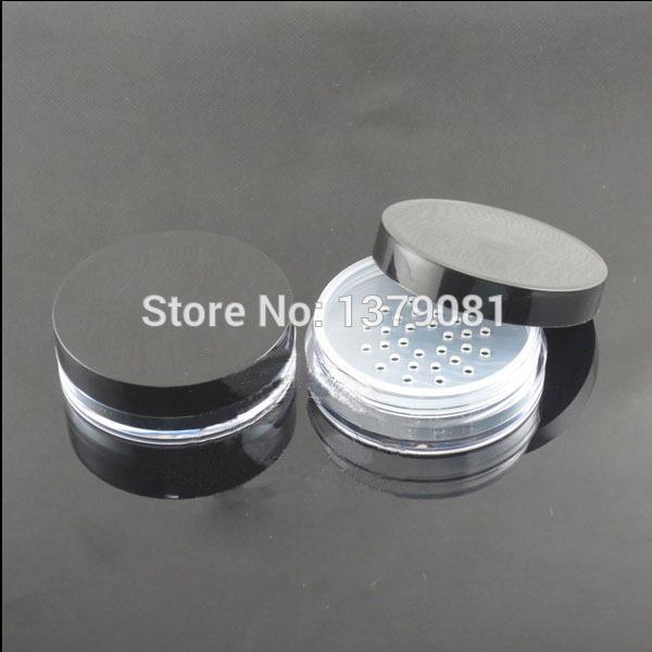 50 sztuk / partia 10g Słoiki kosmetyczne z proszkową Sifter siatki z proszkiem Puff Pudełko Pudełko Pojemniki Jar Butelki do pakowania proszku