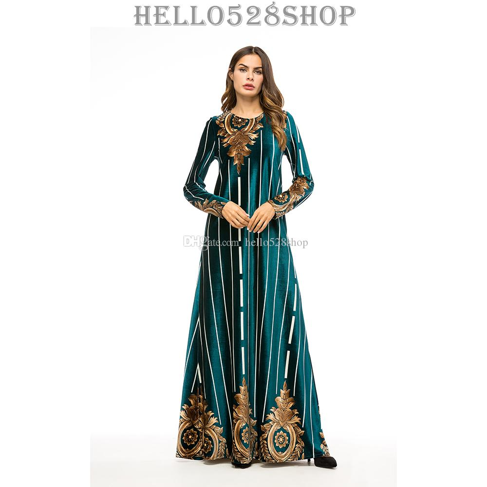 großhandel abend kaftans islamic abaya kaftan kleider für frauen maxi  jalabiya malaysian moroccans dress von hello528shop, 23,42 € auf  de.dhgate |