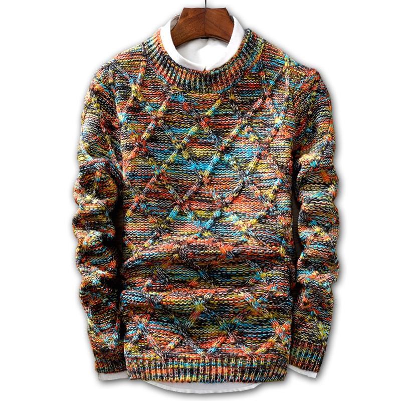 Camisola Homens 2018 moda pulôver Masculino O-Neck stripe Slim Fit Knitting Mens Camisolas Man Pullover Homens XXL