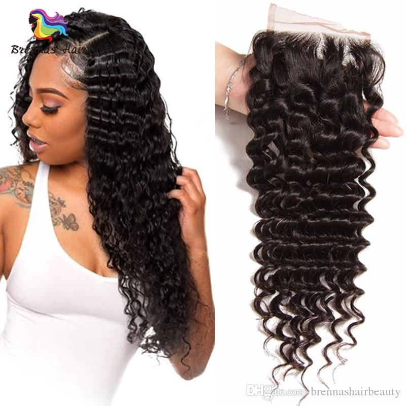 Deep Wave Brazilian Malaysian Remy Human Hair Lace Closure Free Part 4x4 100 Human Hair Closure Deep Curl Silk Closure Piece Brazilian Closure Pieces From Brennashairbeauty 31 16 Dhgate Com