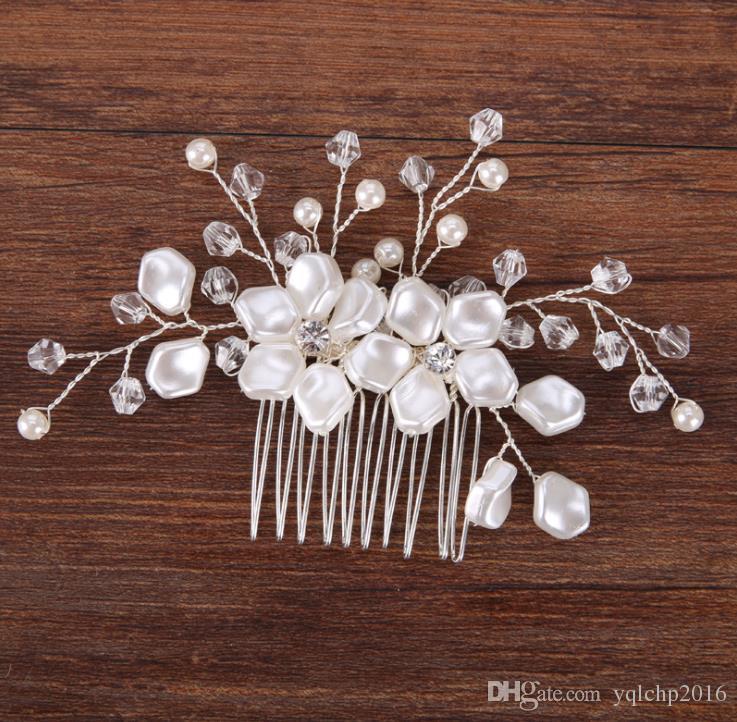 Inci Çiçek Saç Tarak şapkalar high end bakır tel inci ekleme saç süs gelin süs