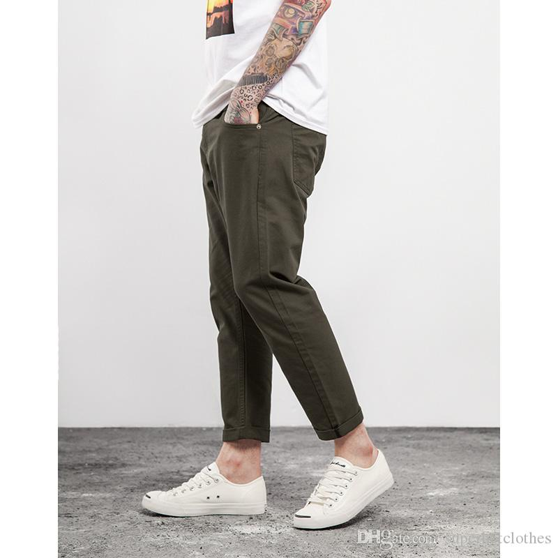 Tobillo Superhotclothes Compre Largos Hombre Casuales A33 Del Cortos De Hombres Pantalones Capri Lisos 51 Para W2ED9IYH