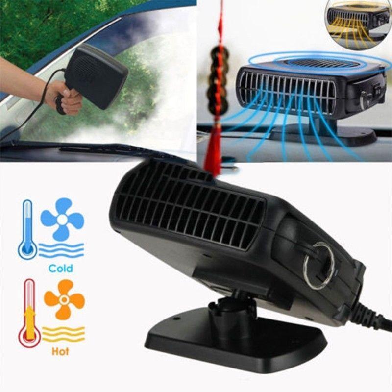 Nueva alta calidad 2In1 150W Calefacción de automóvil Calentador de enfriamiento de enfriamiento del ventilador Demister 12V Secadora WinShield envío gratis