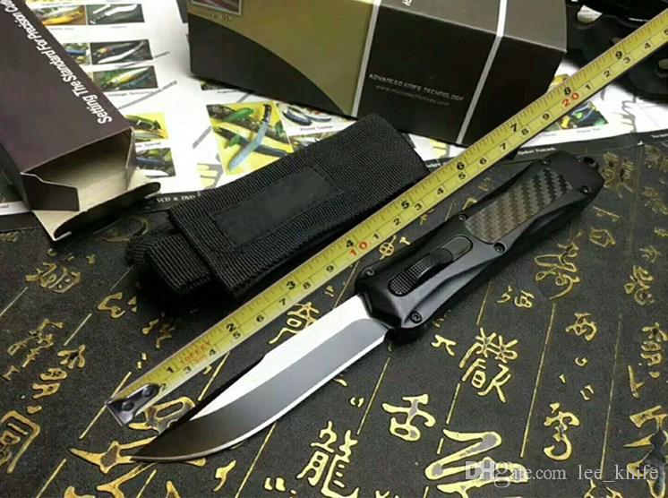 Mic tech dente-drago 3300 (tre lame) a doppio taglio 440C 57hrc coltello da tasca pieghevole coltello di sopravvivenza regalo di natale benchmad 1 pz freeshipping
