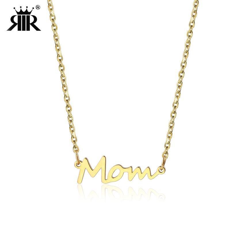 Mère et enfant pendentif cadeau pour maman-En Acier Inoxydable Pendentif Avec Chaîne Collier