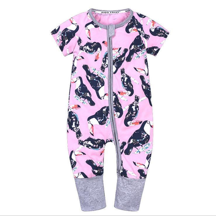 Neonato pagliaccetti in cotone Baby Boy vestiti animale infantile Tute Estate Bebe vestiti manica corta Baby Girls Pagliaccetti