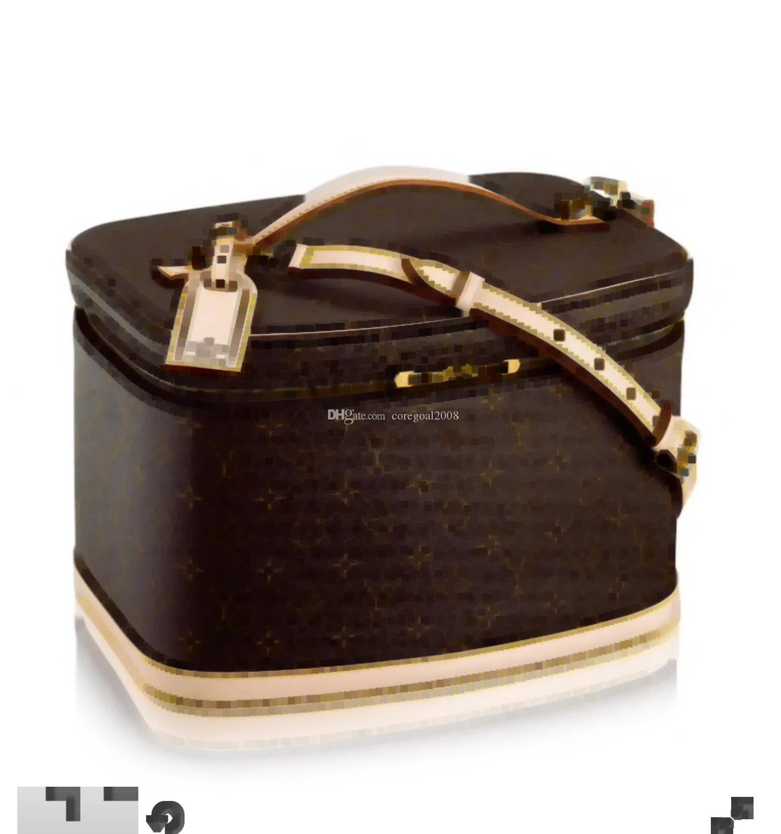 para mujer grande de viajes a Niza caja de cosméticos M47280 bolso de la caja monedero del totalizador del bolso del cuerpo de maquillaje CRUZ lujo M47515 M41439 M41114 M41348 N60024 N47516