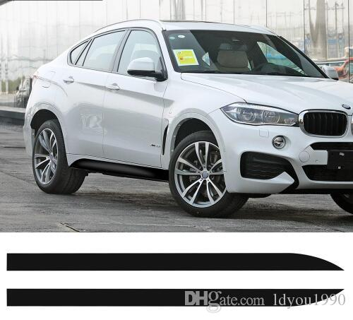 2pcs New Style M Performance Side Skirt Racing Stripe Decals Vinyl Sticker for BMW F16 F86 X6 SUV