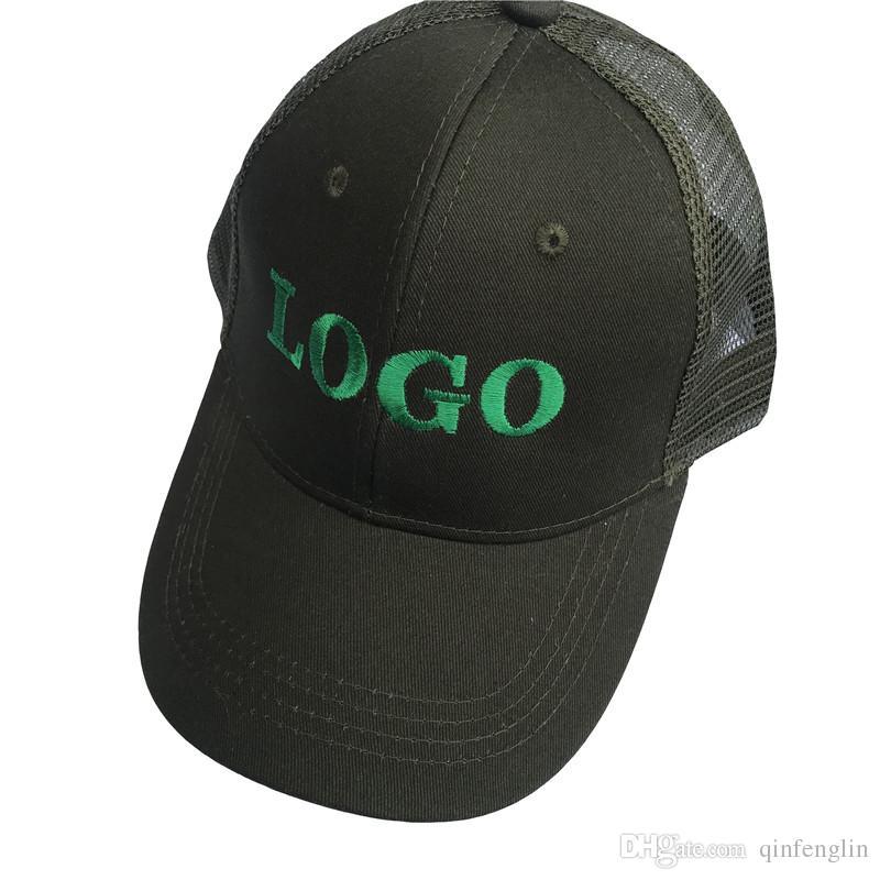 Toptan Örgü 10 ADET / GRUP Kişiselleştirilmiş Snapback Kap Özel Beyzbol Şapka kamyon şoförü kap Yetişkin Çocuk boyutu Nakış Logo Metin