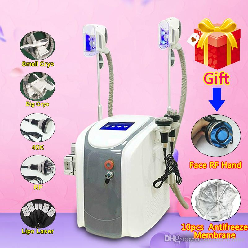 40K Cavitation Ultrasonic RF Slimming Treatment Machine Fast Fat Freeze Slimming System Body Shap Machines 2 Fat Freeze Handle Work Together