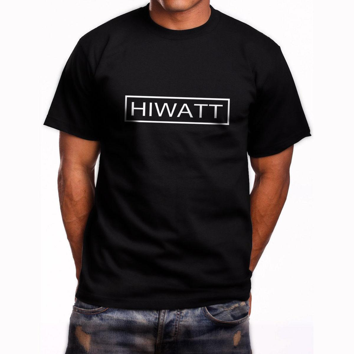 New Hiwatt Guitar Logo Short Sleeve Men/'s Black T-Shirt Size S to 5XL