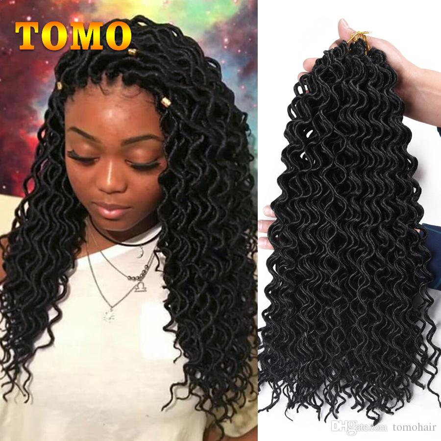 2020 Faux Locs Curly Crochet Braids 18inch Synthetic Braiding Hair Extensions Burgundy Black Low Temperature Fiber Braided Hair 24 Strands Pack From Tomohair 8 62 Dhgate Com