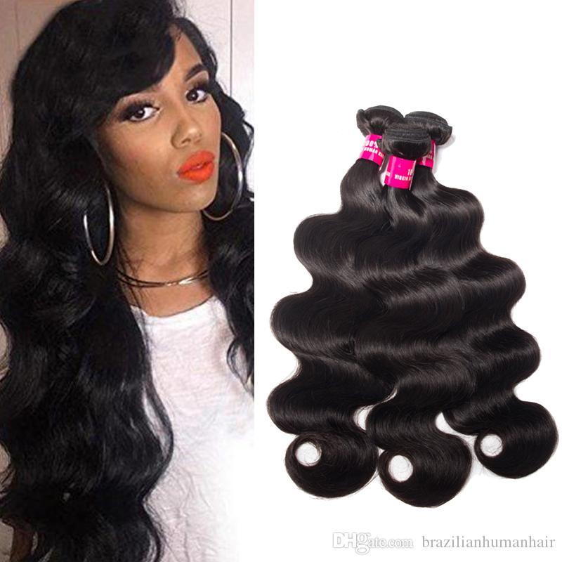 9A Mink Brasilianisches menschliches Haar Webart Körperwelle Gerade Lose Welle Deep Wave 100% Unverarbeitete brasilianische peruanische malaysische indische menschliche Haare