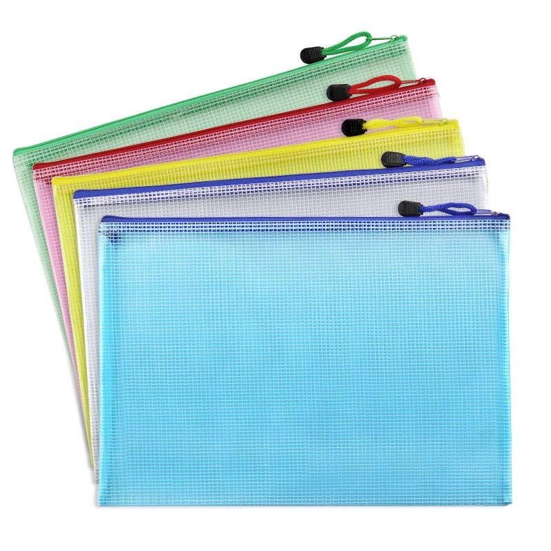 A3/A4/A5/A6/B4/B5/B6 Grid Transparent Document Bag PVC Zipper Stationery Pouch Filing Products Bag LZ1887