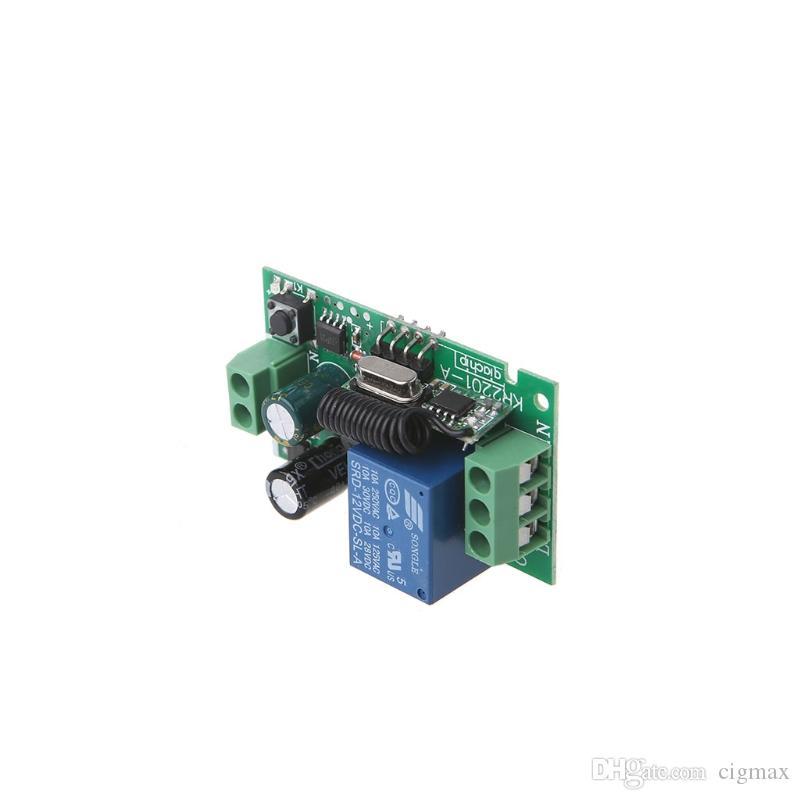 AC 220V 1CH RF 433MHz 무선 원격 제어 스위치 모듈 학습 코드 릴레이