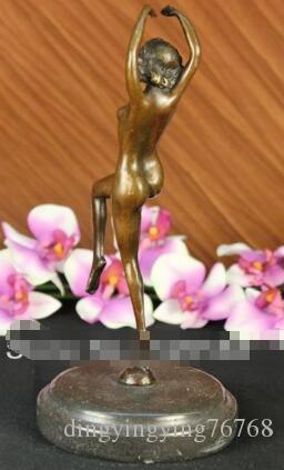 Nude Female Form Sensual Lady Statue Bonded Marble Sculpture
