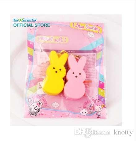 Kawaii Кролик Squishy Кролик Медленный Рост Мягкий Животных Телефон Ремни Кулон Душистые Squeeze Pinch Хлеб Торт Детские Игрушки Подарок Оптовая