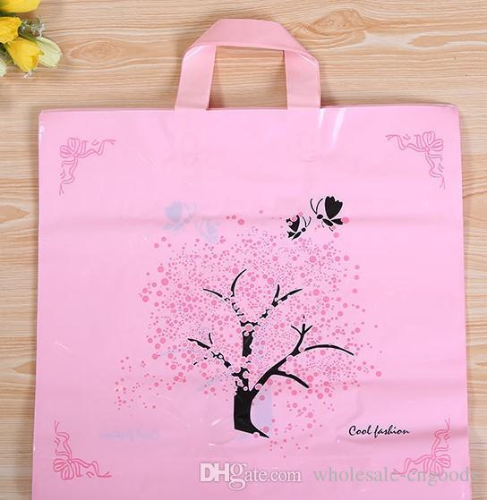 Fino Sorte Árvore Boutique Garment Gift Bag Saco De Mão De Plástico 38 Cm * 29 cm + fundo 6 cm