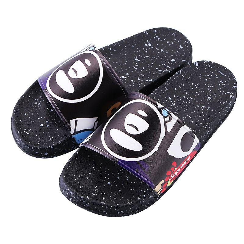 Chinelos New Brand Letras Moda Slides Mens Flip Flops Moda Verão Sup 11