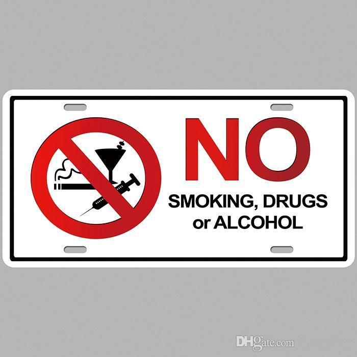 Placa Vintage Metal Lata signos de advertencia no fumar Decoración Arte Pared Poster 30*30CM