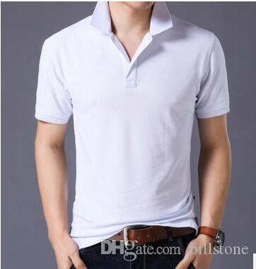2018 New Style men Simple fashion short sleeve cotton Polo Shirts slim fit Polo Shirt Free shipping size S-XXXL D247