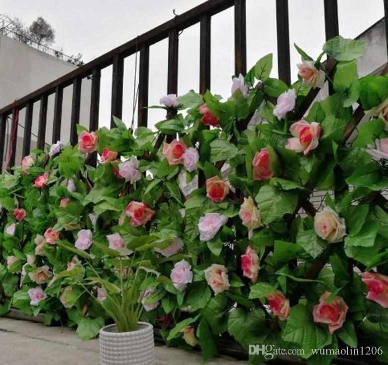 Yapay Duvara Monte Üzüm Asma Simülasyon Sahte Ipek Bitki Ev Düğün Parti için Duvara Monte Yeşil Dekoratif Bitki