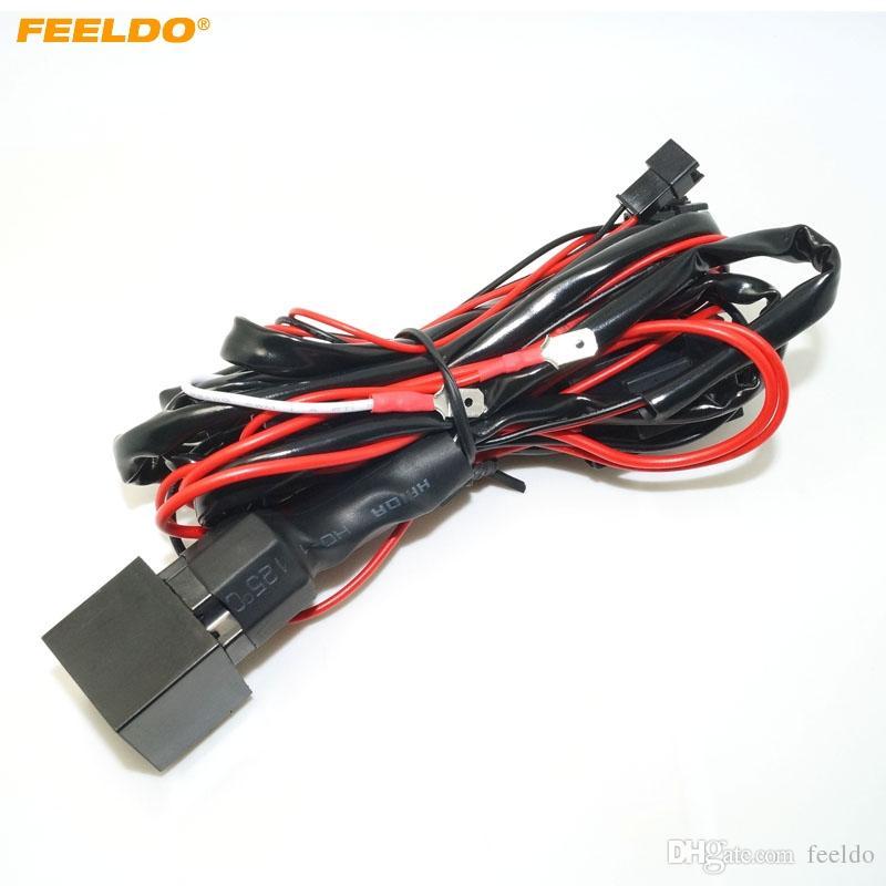 FEELDO автомобиль реле жгут проводов комплект для BMW CCFL / светодиодные глаза ангела свет исчезают функция #4758