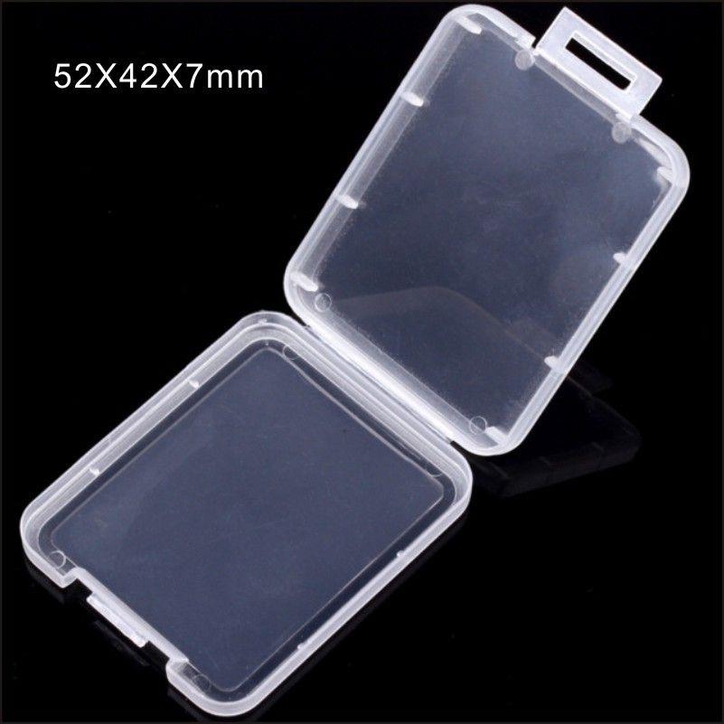 Caja de plástico de la tarjeta CF caja transparente caja blanca caso de almacenamiento de tarjeta de memoria estándar MS sostenedor para el caso TF tarjeta micro SD XD