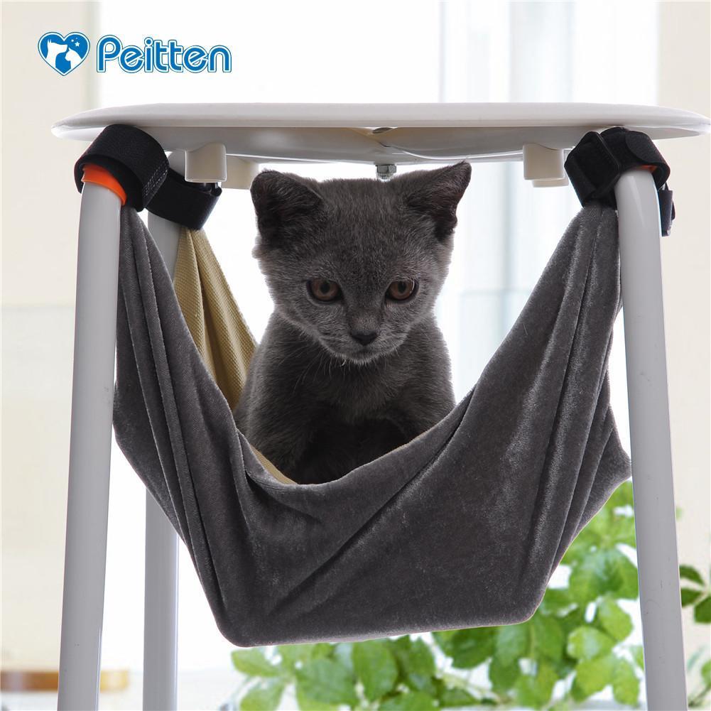 Pet Yavru Kedi Hamak Çıkarılabilir Asılı Yumuşak Yatak Kafesleri Sandalye Kitty Sıçan Küçük Evcil Kediler Salıncak için 2 Renkler Dropshipping