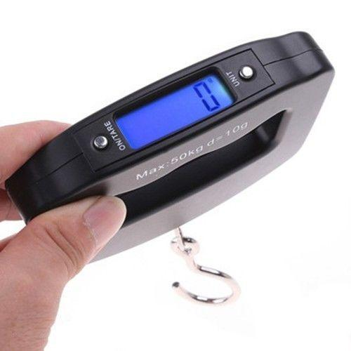 Electronic hand-held weighing 50KG luggage, luggage, express delivery belt, backlight, hand pull, travel fishing scale