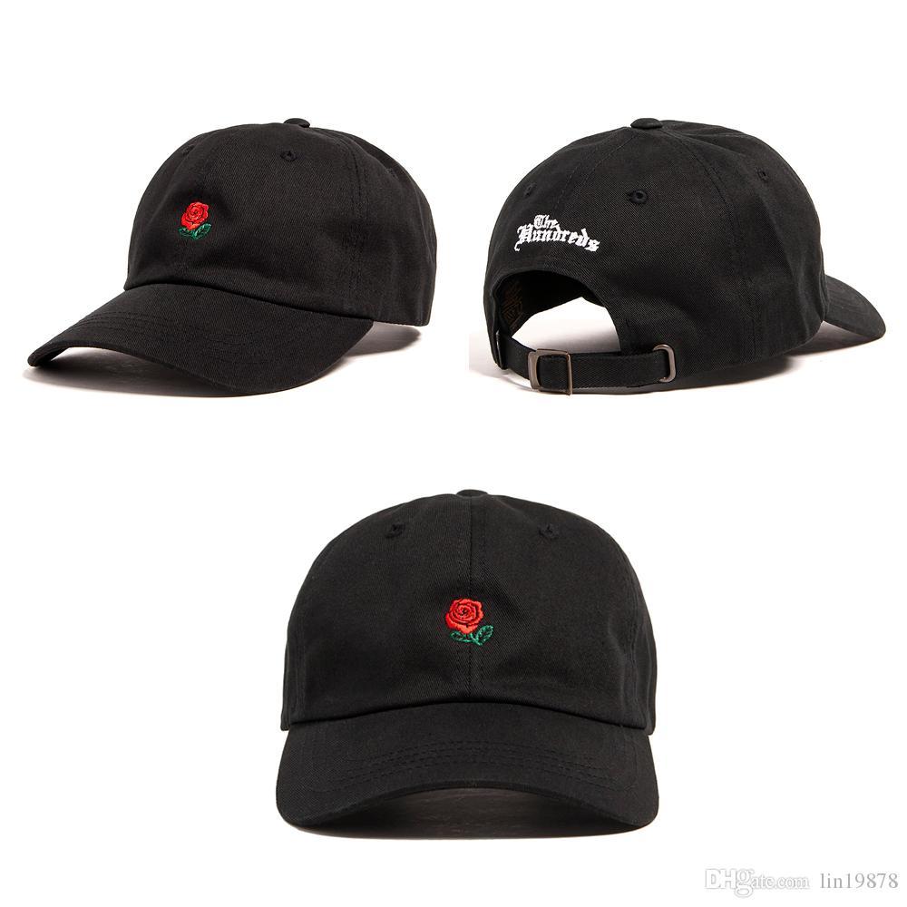 الجملة 2017 حار ماركة مئات روز روز قبعات البيسبول gorras العظام strapback 6 لوحة عارضة الرياضة snapback القبعات للرجال النساء