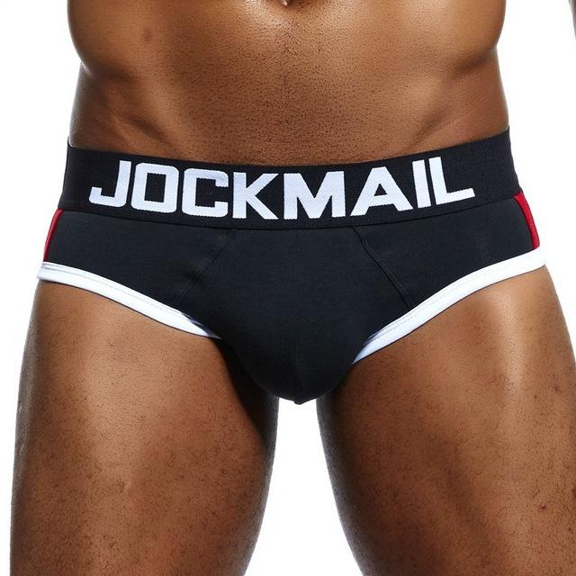 Spandex Jockmail Brand Front Bulge Enhancing Push Up Cup Men Brief Cueca Gay Underwear Calzoncillos Hombre Slip Enhancing Men Underwear