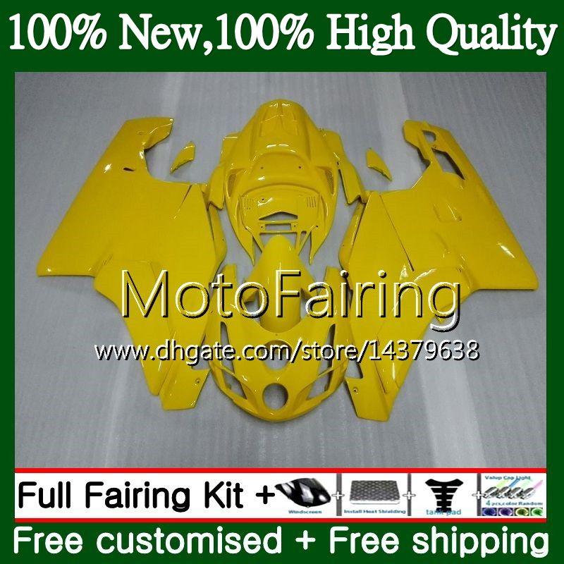 Cuerpo MotorcyMFe de color amarillo brillante para DUCATI 749S 999S 749 999 03 04 Carrocería 16MF1 749 999 S 03-04 749R 999R 2003 2004 Kit de carrocería Fairing