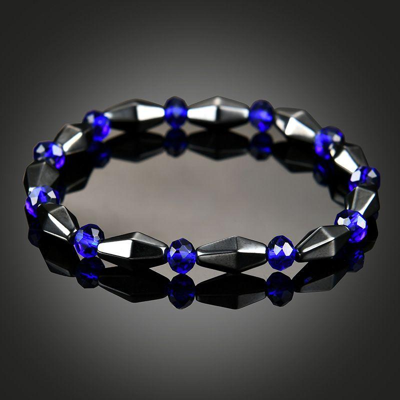 hematita azul gemstone pulseira estilo étnico para mulheres dos homens moda jóias talão pulseiras maxi declaração da vontade e do navio da gota de areia