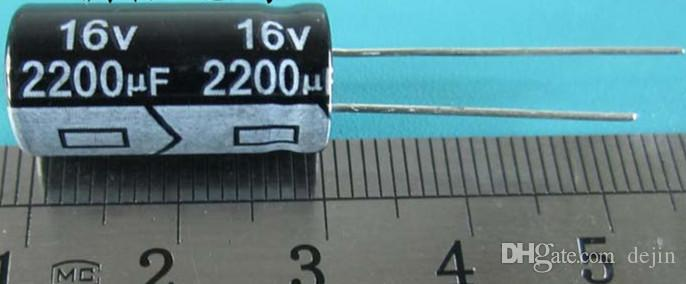 10PCS/LOT 16V 2200UF 10*20 Aluminum electrolytic capacitor 2200uf 16v 10x20mm USED AND REFURBISHED BUT IN GOOD WORKING CONDITION